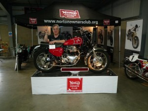 Anthony Curzon (Norton Matchless hybrid guru) with his award winning 1963 Norton very rare Atlas Scrambler. Very few from the original production run of 200 machines have actually survived.