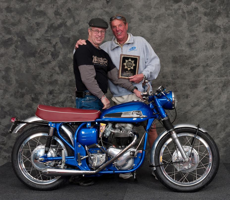Greg Lawless receiving award for his beautiful Manxman from Eddie Mulder at the San Jose Clubmans all British show.